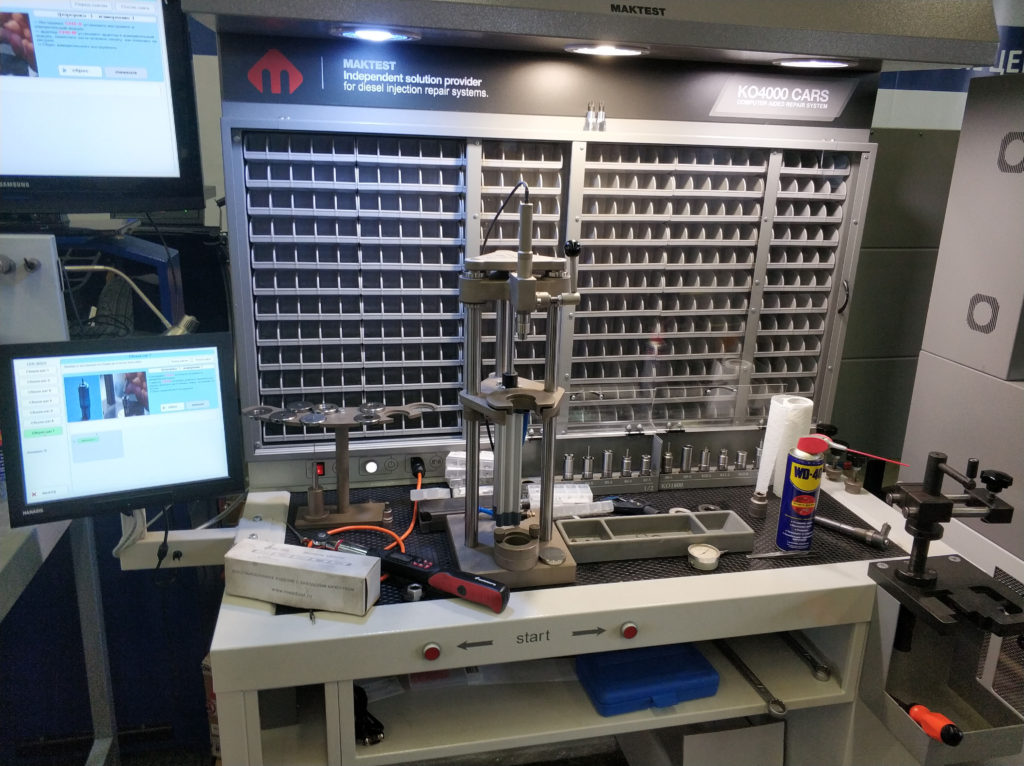 Наш новый стенд для ремонта инжекторов Bosch, CAT, Detroit Diesel